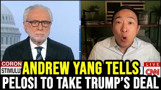 "Andrew Yang Tells Nancy Pelosi to ""Say Yes"" to Trump's Stimulus Deal"