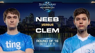 Neeb vs Clem PvT - Round of 16 - WCS Fall 2019 - StarCraft II