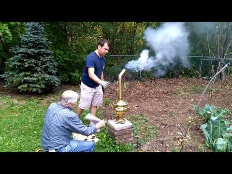 Brewing Tea RUSSIAN style with a 150-YEARS old SAMOVAR - Тульские самовар