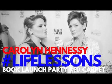 Interview with Carolyn Hennesy at Life Lessons from a Total Failure Book Launch Party