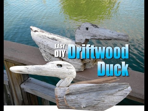 Driftwood Duck Easy DIY Wood Working Craft