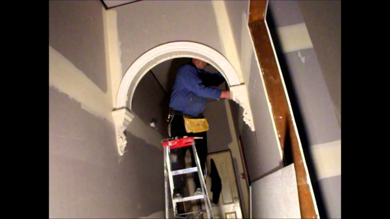 Plastering Making A Victorian Archway Corbels