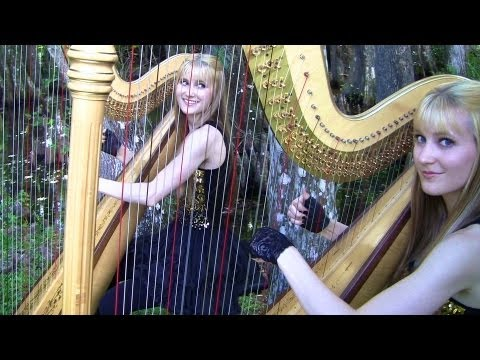 SMOKE ON THE WATER Deep Purple Harp Twins  Camille and Kennerly HARP ROCKMETAL