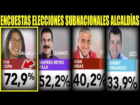 Últimas Encuestas elecciones subnacionales Alcaldías Santa Cruz, Cochabamba, La Paz y El Alto