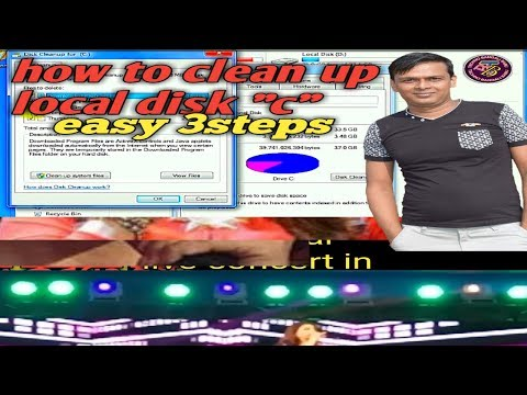 """How to clean  memory of your PC  laptop  computer  . Local disk """"c """" easey 3steps."""