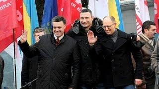 """Кличко, Яценюк і Тягнибок заспівали пісню Океану Ельзи """"Все буде добре"""""""