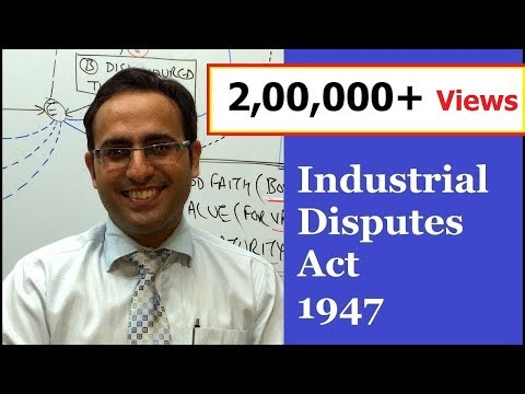 Introduction to Industrial Disputes Act 1947 (Video-1) || for CS, CMA & LL.B