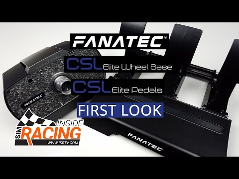 Fanatec CSL Elite Wheel Base and Pedals First Look