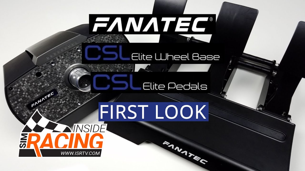 fanatec csl elite wheel base and pedals first look youtube. Black Bedroom Furniture Sets. Home Design Ideas