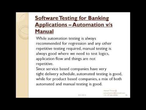 Software Testing Series (Session 20): Software Testing in Ba