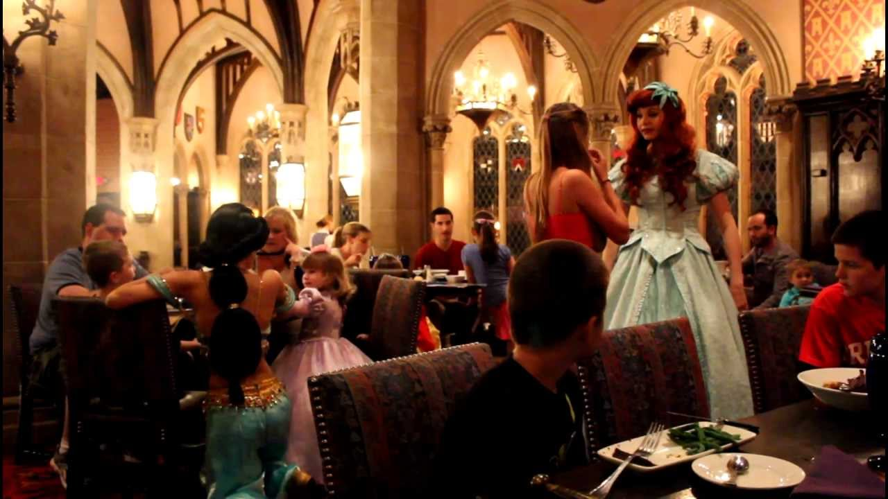 Walt Disney World Inside Dinner At Cinderella S Castle Youtube