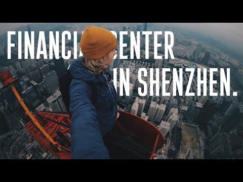 На вершине финансового центр Шэньчжэня I Caiwuwei Financial Center In Shenzhen.