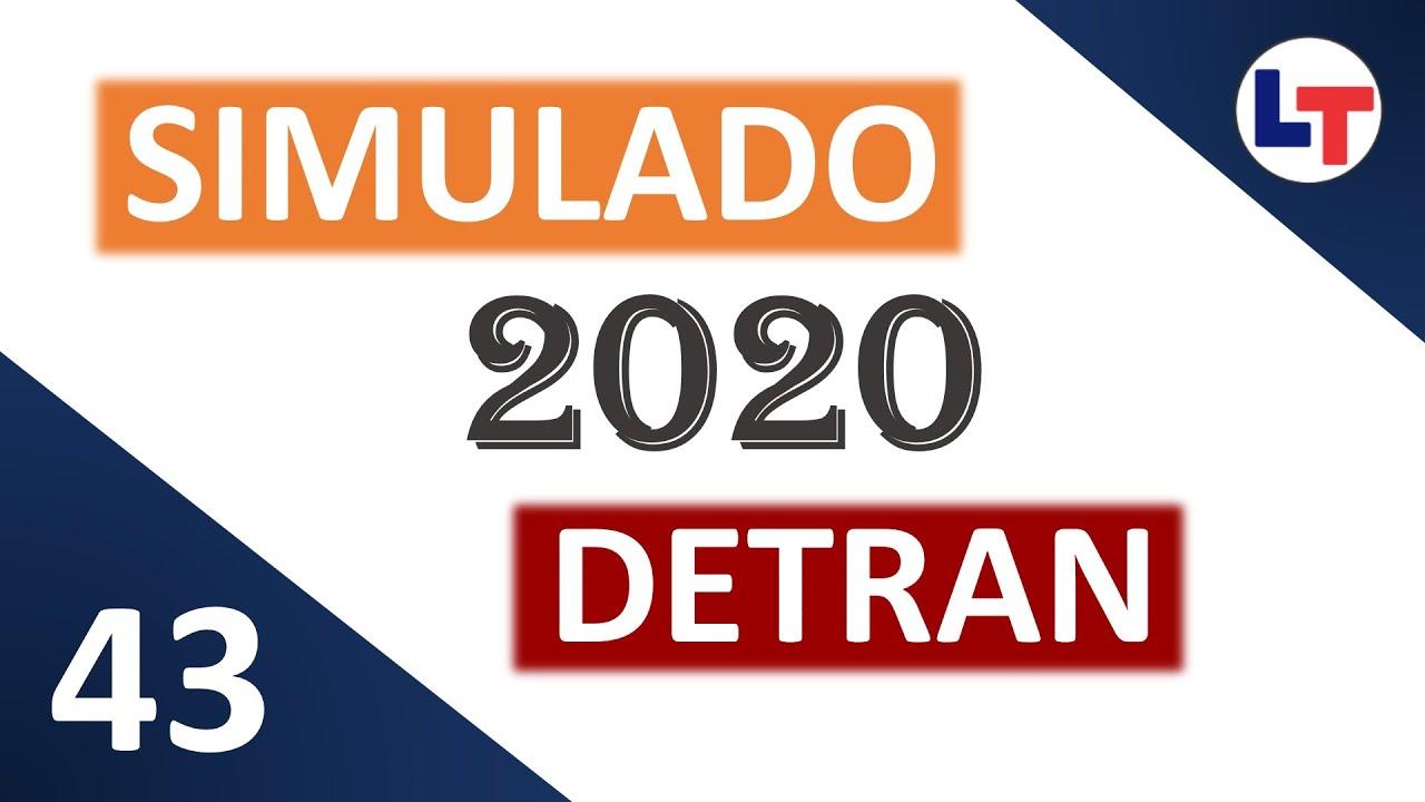 SIMULADO DETRAN QUESTÕES 2020 - AULA 43 #SimuladoLegTransito #Detran2020