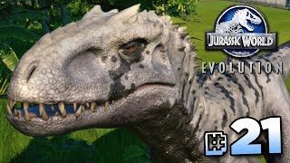 CREATING INDOMINUS REX!!! - Jurassic World Evolution FULL PLAYTHROUGH | Ep21 HD
