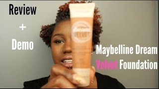 *NEW* Maybelline Dream Velvet Foundation Review/ Oily Skin