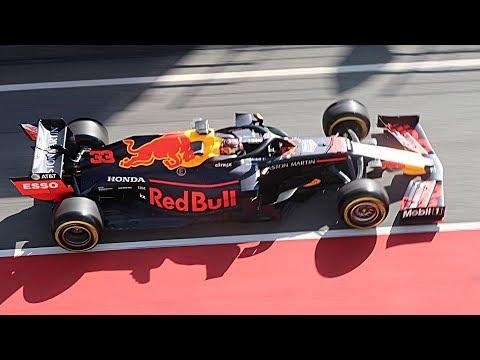 F1 2019 Testing Raw Pure Sound - Red Bull RB15 Honda 2019 Car Highlights from Circuit de Catalunya!