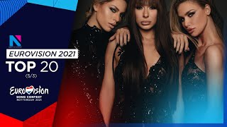 2021 EUROVISION   Top 20 (March 5, new entries: 🇦🇺🇷🇸)