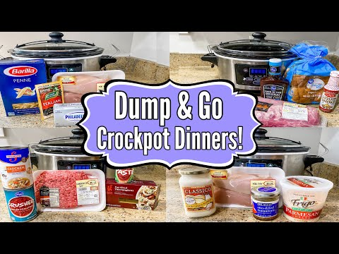 6 DUMP & GO CROCKPOT DINNERS | The EASIEST Slow Cooker Recipes | Tasty Meal Ideas | Julia Pacheco