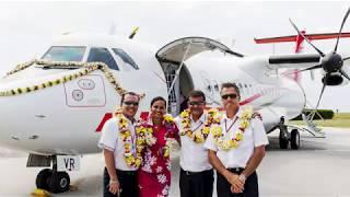 Bénédiction de l\'ATR 72-600 d\'Air Tahiti \