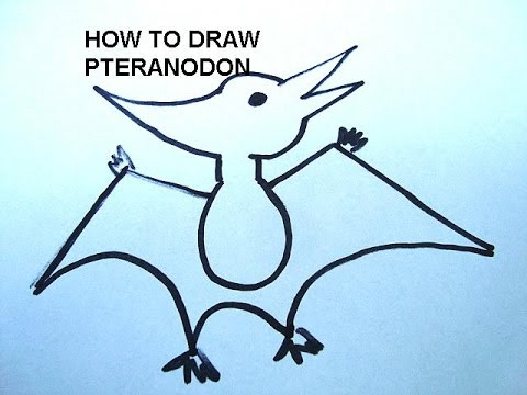 LEARN TO DRAW DINOSAURS, PTERANODON, how to draw, free art lessons ...