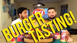 Dairy Queen Burger Tasting Review - RANDOMFIDE