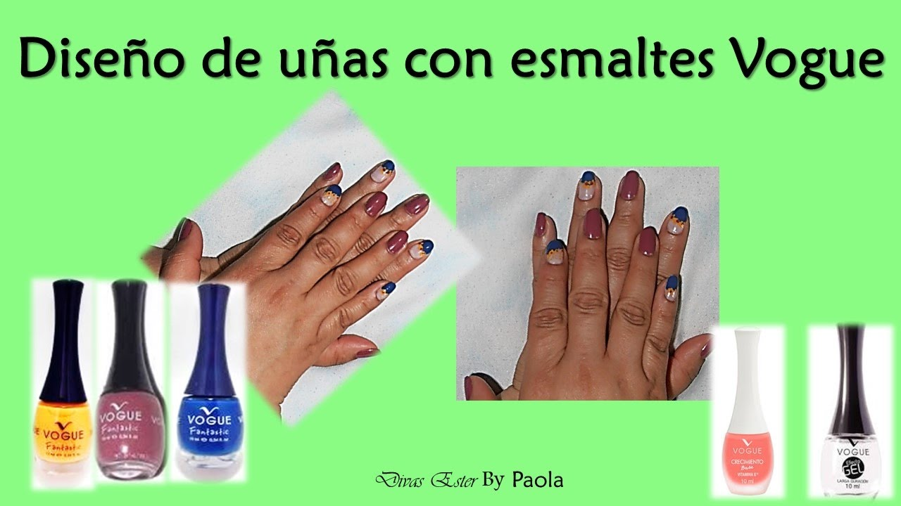 Diseño de uñas con esmaltes Vogue - YouTube