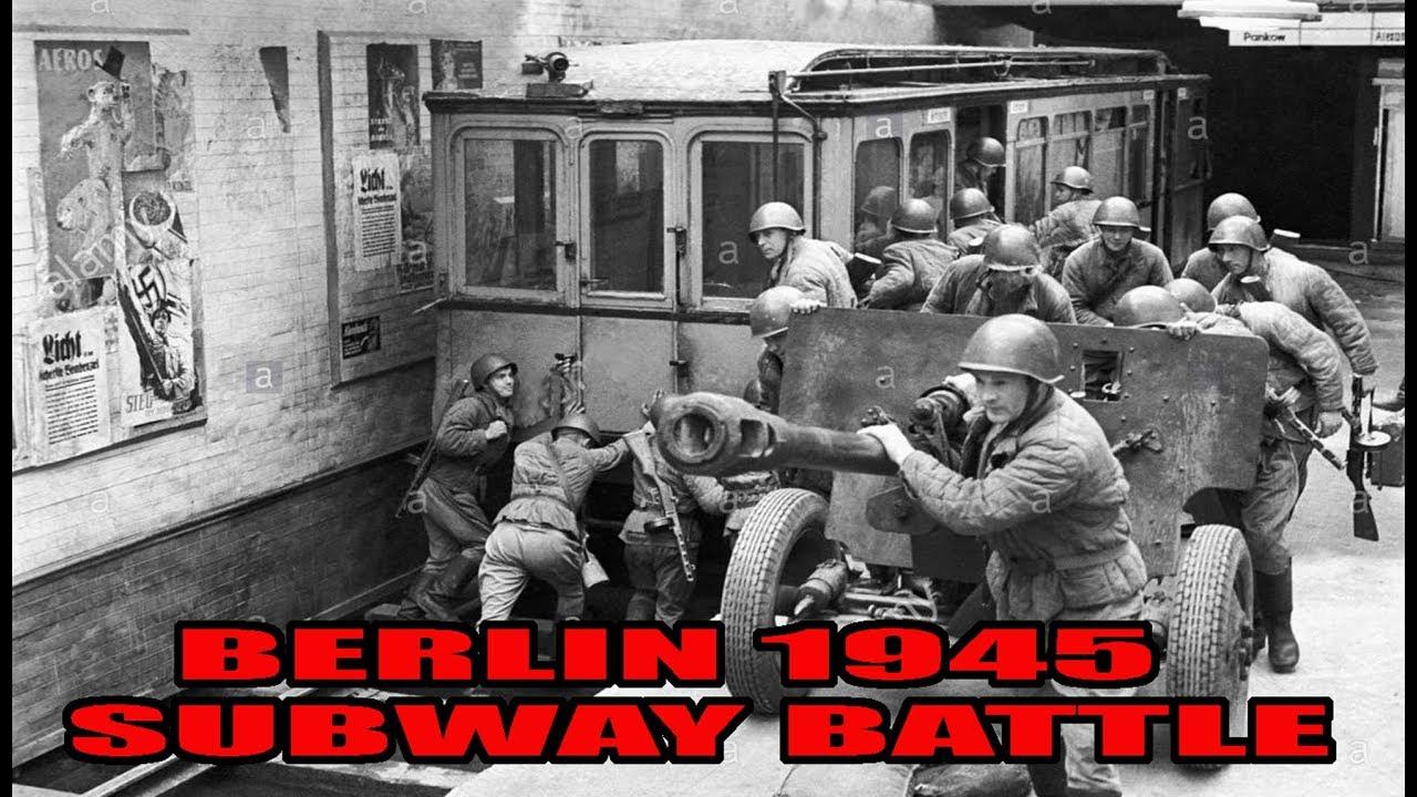 battle in the subway berlin 1945 ww2 youtube