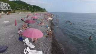 Лазаревское Каткова щель пляж 4К(полный экран)