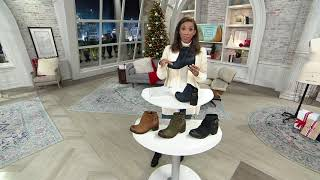 Miz Mooz Leather Buckle Ankle Boots - Stoney on QVC