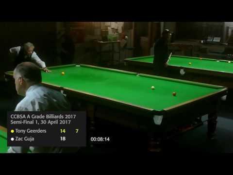 Wellington A Grade Billiards Semi Final 1 30 April 2017