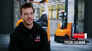 Meet Tyler our 2021 TMHA Forklift Apprentice