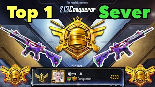 Journey to win the conqueror title in Season 13 | Highlights of Top 1 Sever | Pubg Mobile