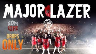 Major Lazer @ Lollapalooza Chicago 2016 | Drops Only |