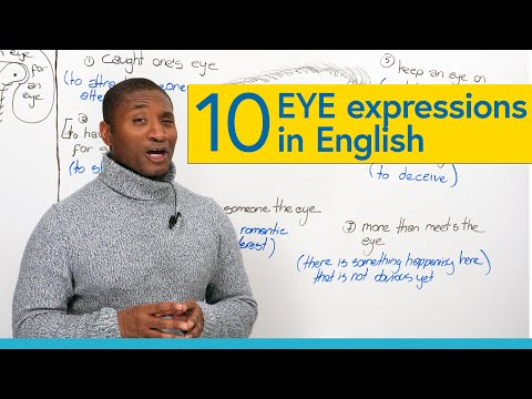 """10 English Idioms & Expressions with """"EYE"""""""
