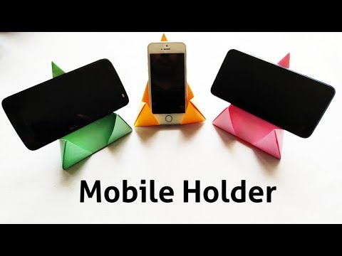 DIY Easy Mobile Holder Out Of A4 Size Paper || Phone Stand