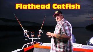 Fishing for Flathead catfish, I finally weigh a fish.