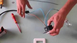 branchement d'un détecteur de mouvement mural