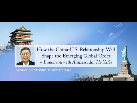 Q & A section of Luncheon with Ambassador He Yafei 11/14/2017