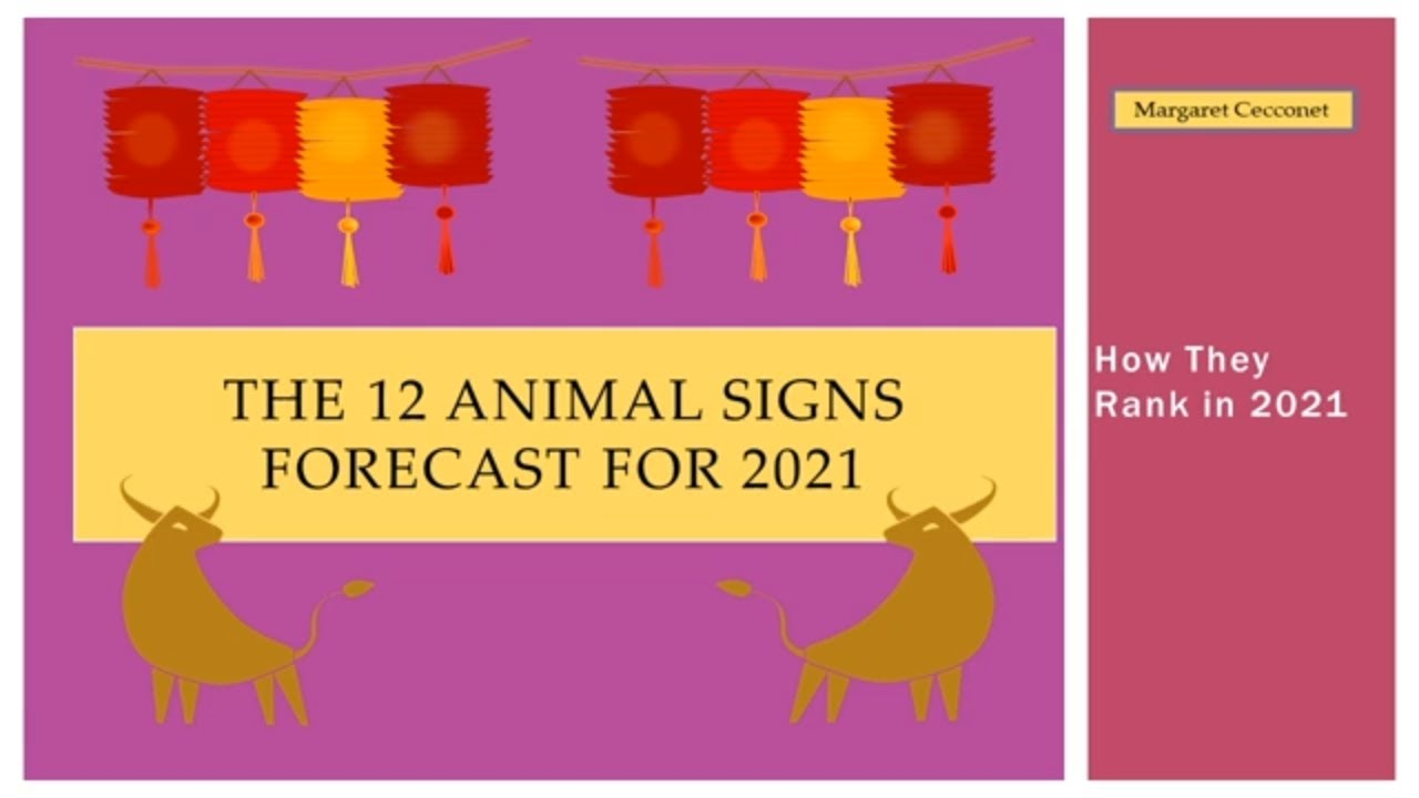 2021 Forecast for the 12 Animal Signs of the Chinese Zodiac