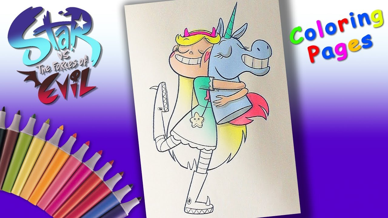 Star Butterfly And Pony Head Coloring Pages For Kids Star Vs The