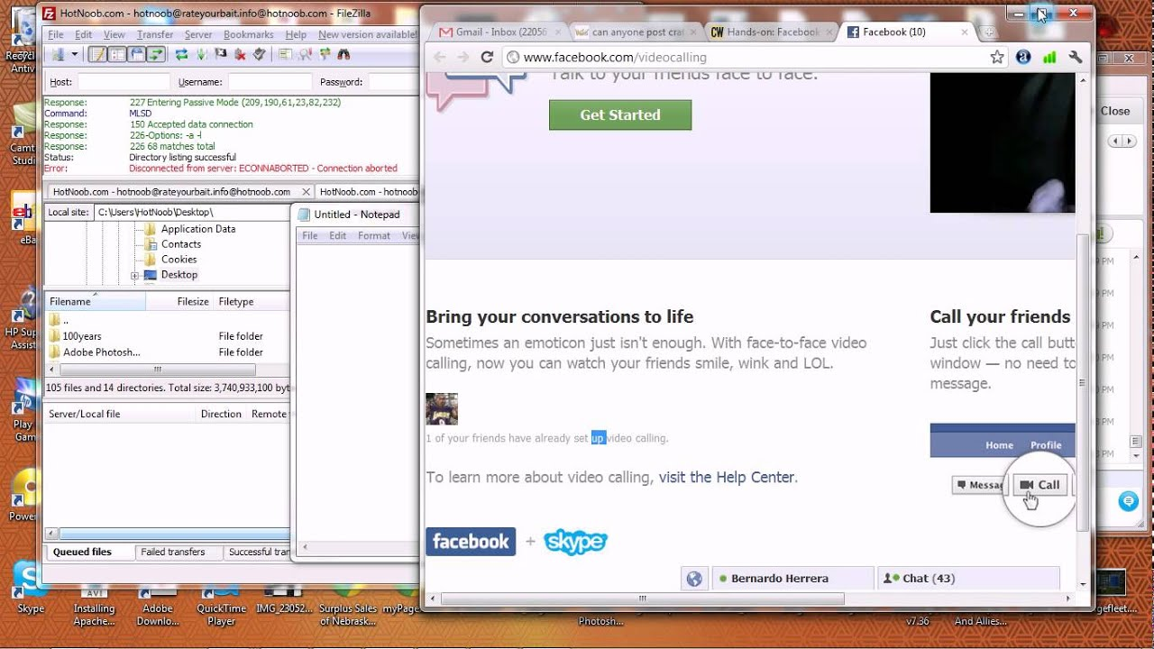 Install facebook video calling software, free download