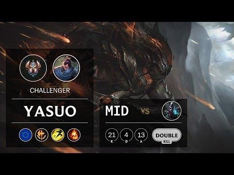 Yasuo Mid vs Ekko - EUNE Challenger Patch 9.24