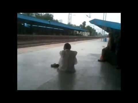 22404 New Delhi Puducherry S.F. Express at his high speed crossing Ghoradongri Railway Station