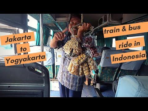 Local bus ride in Indonesia II Jakarta to Yogyakarta on train and bus