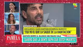 Juan Darthés con Mauro Viale: