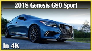 2018 Genesis G80 Sport 3.3L Twin Turbo V6 | DETAILED Review Teaser | Quick Music Trailer in 4k UHD!
