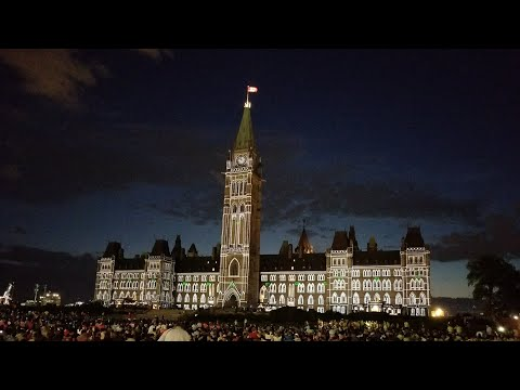 Northern Lights 2017 (Canada 150 edition, FULL)- Sound and light show on Parliament Hill, Ottawa