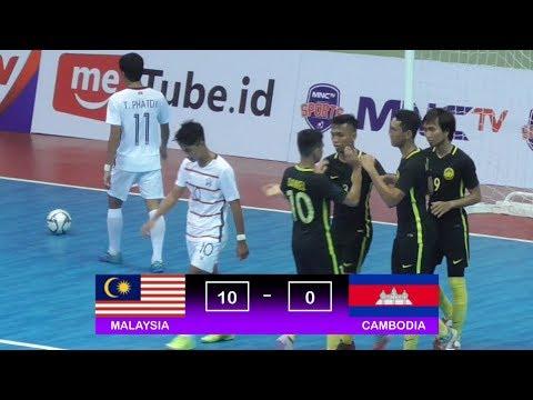 Highlights Malaysia Vs Cambodia (10-0) AFF Futsal Championships 2018