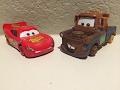 Mattel Pixar Cars 2016 #95 Returns Lightning W/ No Tires & Mater W/ No Tires 2-Pack