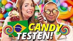 BRASILIANISCHE Süßigkeiten testen! | Ultimative Candy Challenge | ENGLISH SUBTITELD w/ JONAS & SILVI